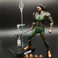 17cm Justice League Aquaman Battle ver figure Model PVC Movable joint Action Figure Toys New Collection brinquedos Gift