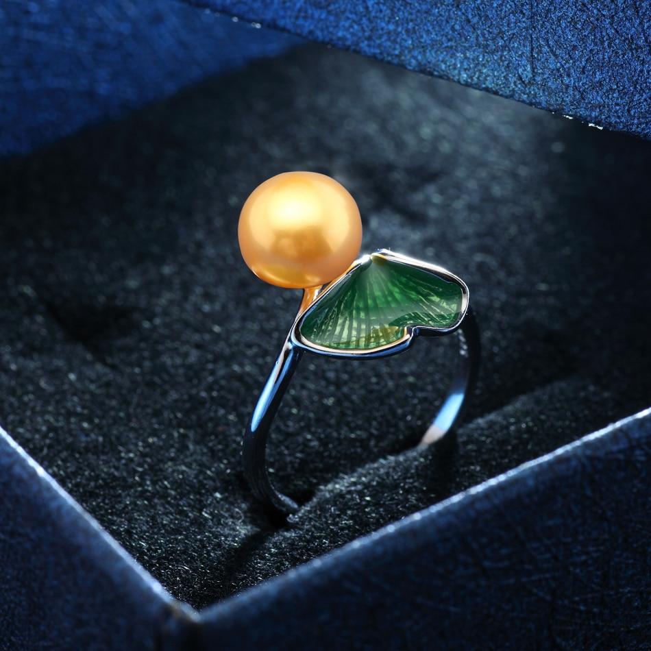 À la mode Feuille Argent 925 Perle Bague pour Femmes Anniversaire - Bijoux - Photo 3