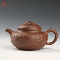 Limited Edition Handmade Antique Ruyi Clay Pot Collectible Teapot Yixing Tieguanyin Tea Set Purple Clay Tea