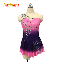 Nasinaya Figure Skating Dress Customized Competition Ice Skating Skirt for Girl Women Kids Patinaje Gymnastics Performance 212
