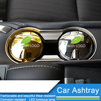QHCP Car Ashtray Holder LED Light Portable Auto Car Smokeless Stand Cylinder Cup Holder Cigarette Ashtray Car Styling For Lexus