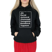 Got7 Names Hoody Hoodie Top Fashion Blogger Kpop Got 7 Sweatshirt JB MARK JACKSON JINYOUNG YOUNGJAE BAMBAM YUGYEOM