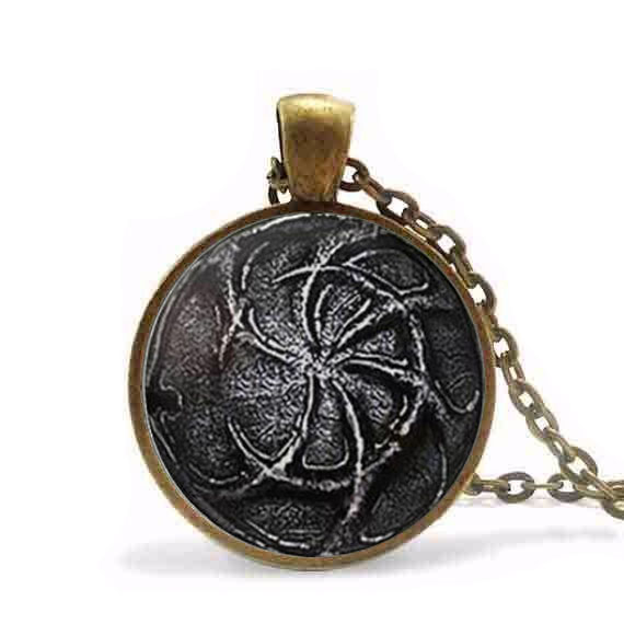 Pilgrims of dark pendant dark souls ii necklace steampunk gift women pilgrims of dark pendant dark souls ii necklace steampunk gift women men chain antique vintage new aloadofball Choice Image