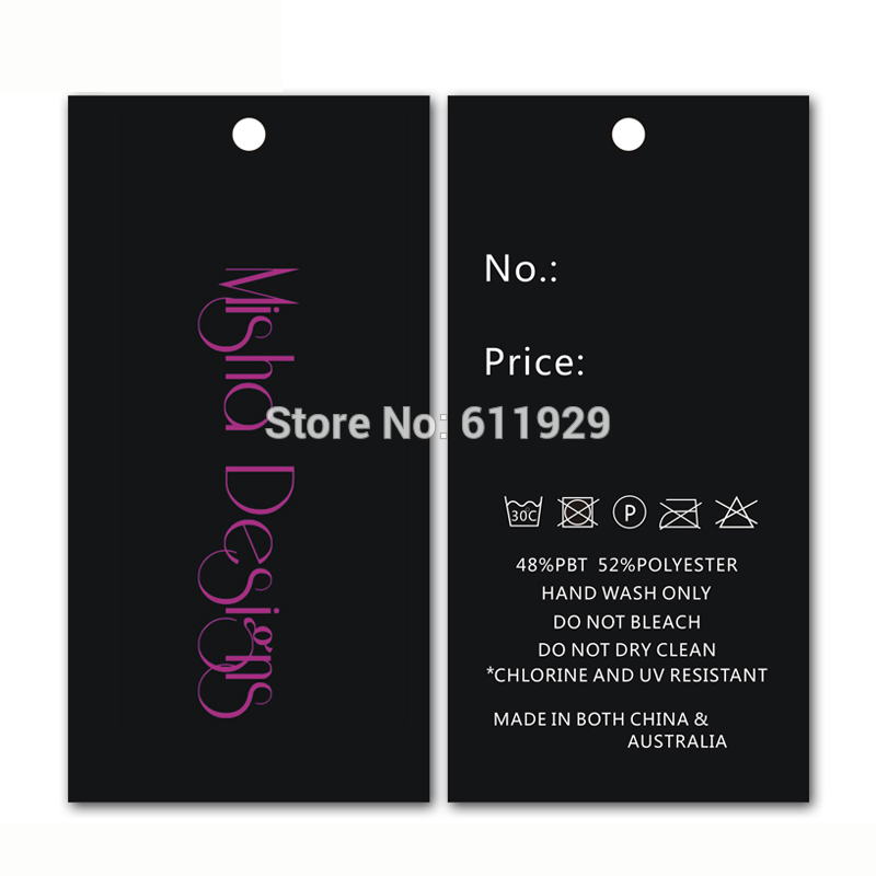 Free shipping 500pcs a lot customized paper hang tag/clothing swing tag labels/garment bag printed tags brand care labels logo