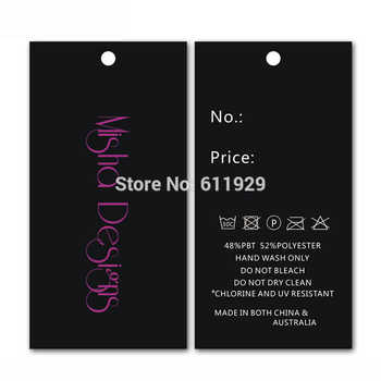 Free shipping 500pcs a lot customized paper hang tag/clothing swing tag labels/garment bag printed tags brand care labels logo - DISCOUNT ITEM  18% OFF All Category