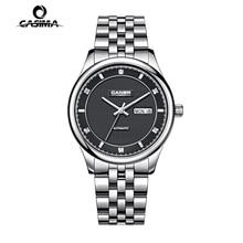 Casima часы мужчины нержавеющая сталь сапфир автоматический self-ветер бизнес мода календарь водонепроницаемый 100 м человек часы # 6806