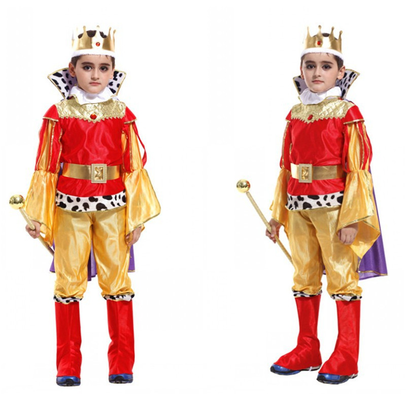 Boys Anime Prince Charming Cosplay Halloween King Costumes Children's Day Stage Show Performance Holiday Festival Parade Dress