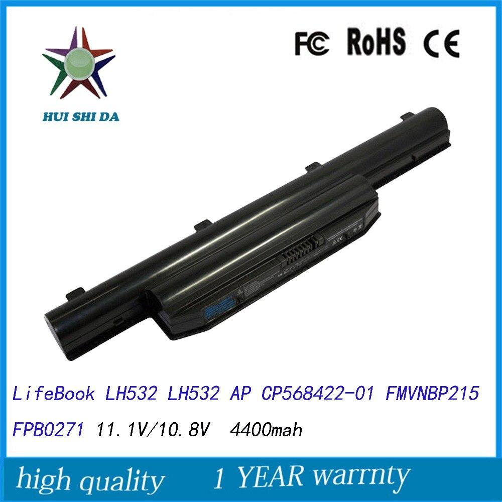 10.8 V 4400 MAH Nouvelle Qualité Batterie D'ordinateur Portable pour Fujitsu LifeBook LH532 LH532 AP CP568422-01 FMVNBP215 FPB0271