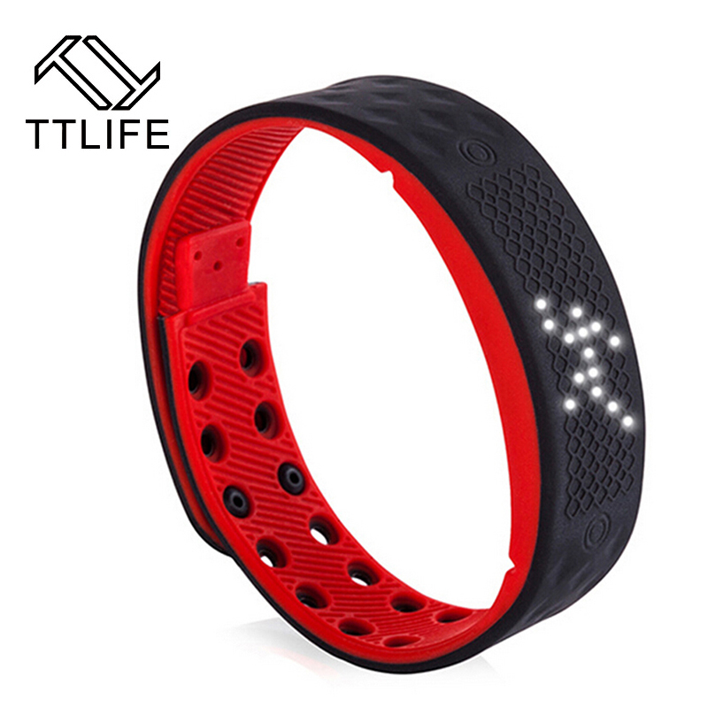 TTLIFE TW2 Smart Bracelet Multilingual Sports Men Watch Pedometer Sleep Monitor Calories Burned Flex Fitness Tracker