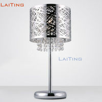 LAITING New Modern Round Creative Crystal Kids Book Light Elegant Clear K9 Crystal Bedroom Bedside Lamp LT 20066