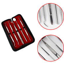 5Pcs Stainless Dental Tool Set Kit Dentist Teeth Clean Hygiene Picks Mirror Oral Care HT0050