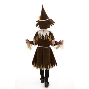 Image 2 - Hội Pháp Sư Bí Ngô Dán Cường Lực Bù Nhìn Trang Phục Cosplay Cô Gái Trẻ Em Halloween Carnival Cosplay Đáng Kinh Ngạc Lạ Mắt Đầm Phù Hợp Với