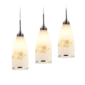 מודרני LED תליון מנורת זכוכית לבן תליון אורות Hanglamps עבור חדר אוכל סלון בית תאורה מתקן תליית מנורות