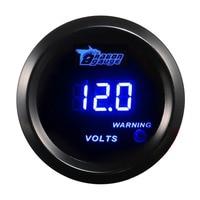 2 inch 52mm Car Volt Gauge Blue Digital LED Electronic Auto Voltmeter Automobile Voltage Meter DC 12V