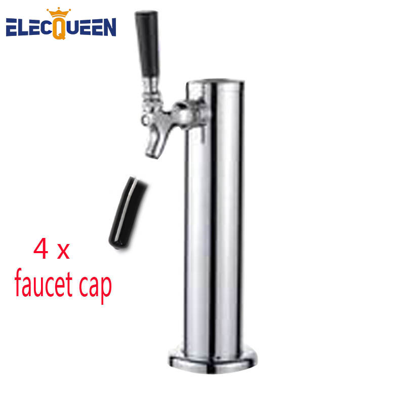 Single Tap chromeplated Draft Beer tower Faucet beer tower stainless steel innel with brass beer tap