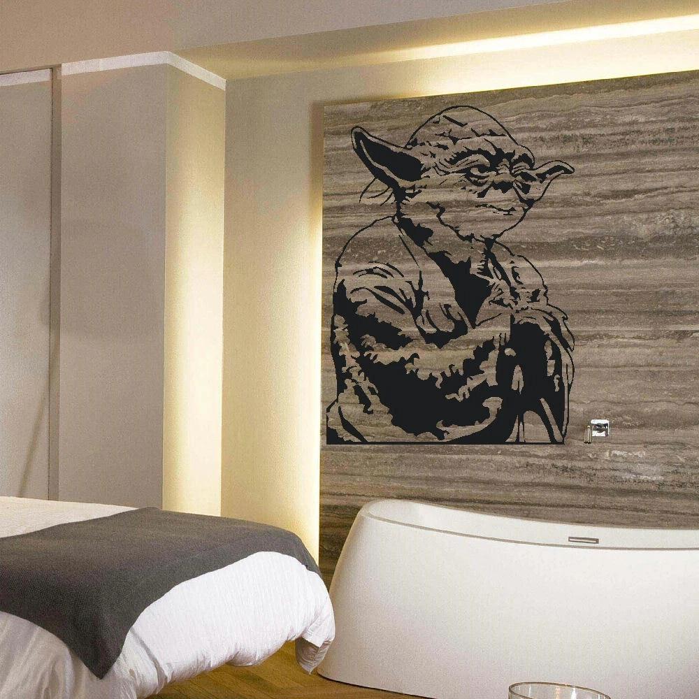 Home Decor Large Yoda Star Wars Wall Art Bedroom Living Room Vinyl Decal Sticker Mural Decor Decals Stickers Vinyl Art