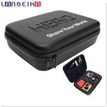 Lanbeika для GoPro противоударный Водонепроницаемый чехол для SJCAM SJ5000 M20 SJ6 SJ7 Go Pro Hero 5 4 3 + сумка Камера (23x17x7 см)