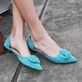 Yellow Black Blue Pointy Toe Women's Flats 2017 Spring New Korean Style Fashion Ladies Singles Shoes Discount Hot Sale Footwear