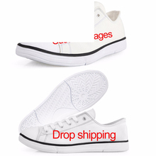 Flats Vulcanize-Shoes Customized Boys Men's Classic Lace-Up Canvas Images Low-Style Student