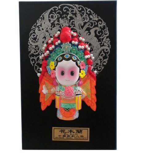 Beijing Opera Roles : huamulan Decorations Paintings/Cold porcelain painting Business gifts