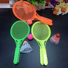 1 Pair Novelty Kid Baby Outdoor Sports Badminton Tennis Set Child Sport Educational Outdoor Games Toys
