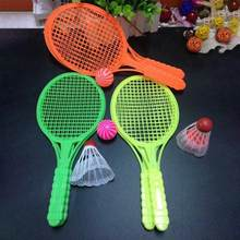 1 Pair Novelty Kid Baby Outdoor Sports Badminton Tennis Set Child Sport Educational Outdoor Games Toys(China)