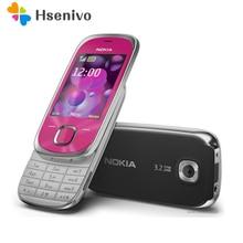 Remise à neuf D'origine Nokia 7230 Mobile Téléphone portable GSM Débloqué Anglais Russe Hébreu Arabe Clavier et Un ans de garantie