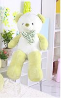 cute plush light green&white Teddy bear toy lovely bow bear doll gift about 100cm 0150