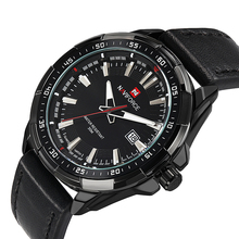 Новый NAVIFORCE бренд для мужчин военные кварцевые часы Спорт Кожа водостойкие аналоговые часы s Дата повседневное часы Relogio Masculino