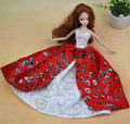 6PCS/Lot Handmade Party Doll's Dress Beautiful Noble Lace Princess Doll Clothes Mixed Style