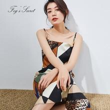 купить 2019 Summer Braces Dress For Women Real silk Dresses Colorful Print Leopard Loose Unique Tribe платье женское по цене 5266.65 рублей