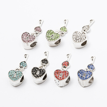 10pcs Crystal Key lock European beads Fit Pandora Charms Original Bracelet Spacer Charm Beads Jewelry Making  DIY  js1470