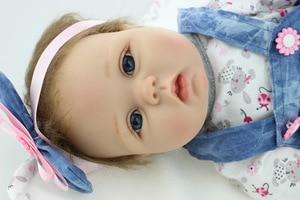 Reborn da criança menina de alta qualidade renascer da criança princesa menina boneca silicone vinil adorável lifelike bebê bebe boneca acessórios