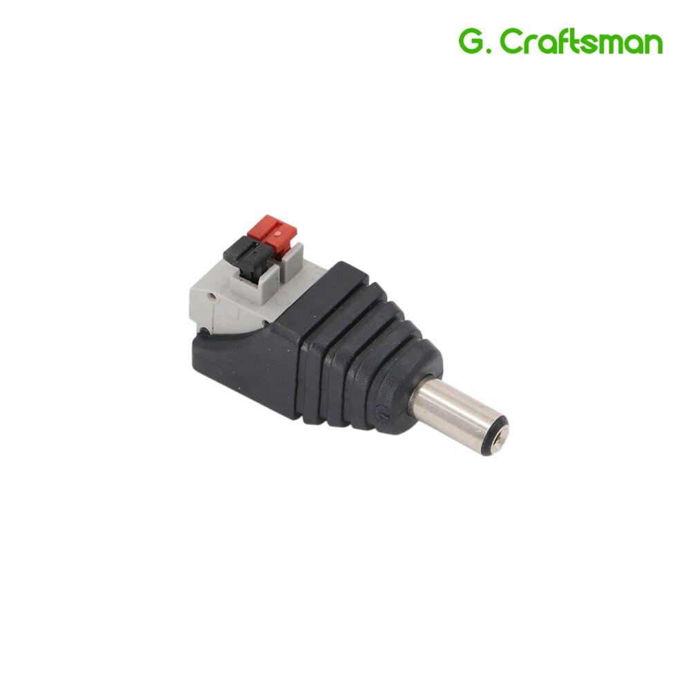 Clearance Sale!! 120PCS DC Jack Power Male Plug Adapter 5.5*2.1 DC Jack Push Fastening Type Connector CCTV Camera Socket B14