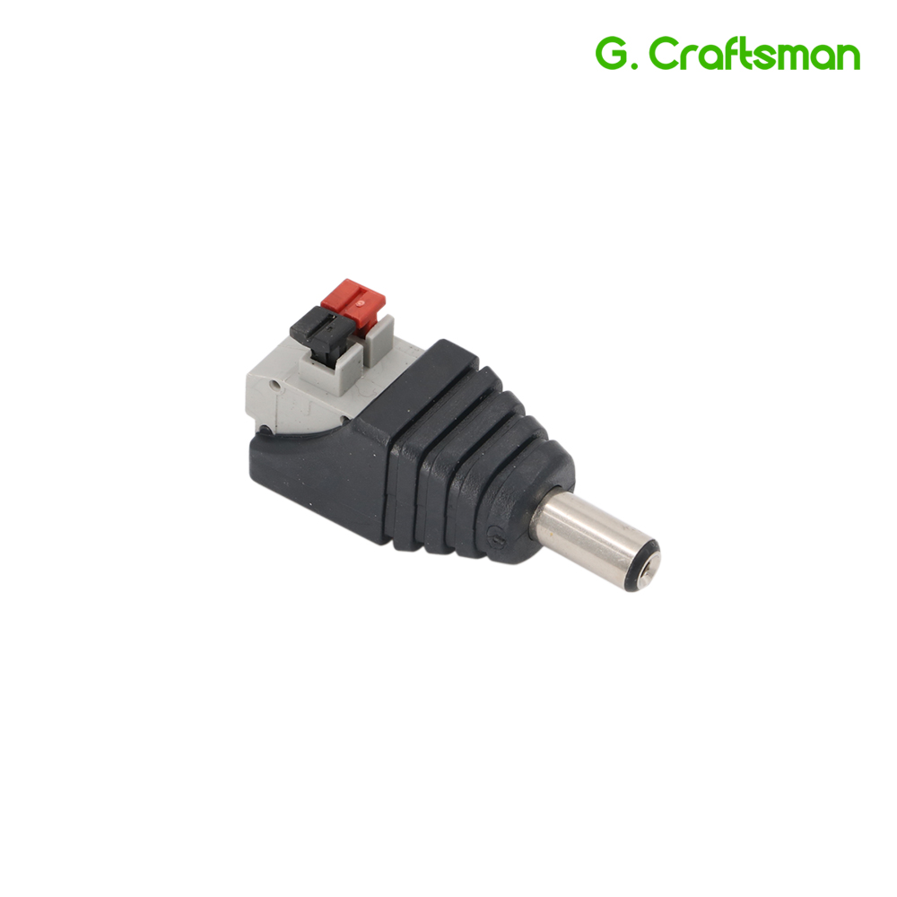 DC Jack Power Male Plug Adapter 5.5*2.1 DC Jack Push Fastening Type Connector CCTV Camera Socket B14 Accessories G.Craftsman