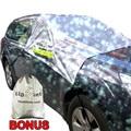 Parabrisas magnética Cubierta de Nieve Elástica con ganchos Fijos Cuatro ruedas Barra de Advertencia Reflexiva en el Espejo Cubre Ajuste para La Mayoría de Vehículos