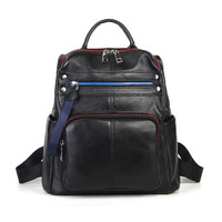 Nesitu High Quality New Fashion Black Genuine Leather Cute Women's Backpacks Girl Lady Travel Bag Female M1021