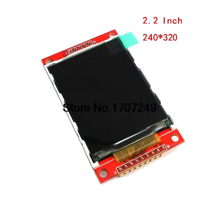 цена на 2.2 Inch 240*320 Dots SPI TFT LCD Serial Port Module Display ILI9341 5V/3.3V