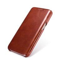 Luxus Echtes Leder-kasten Für Samsung Galaxy S7 S7 Rand Mode Voll Abgedeckt Flip-Cover Original Handy-fällen Zubehör