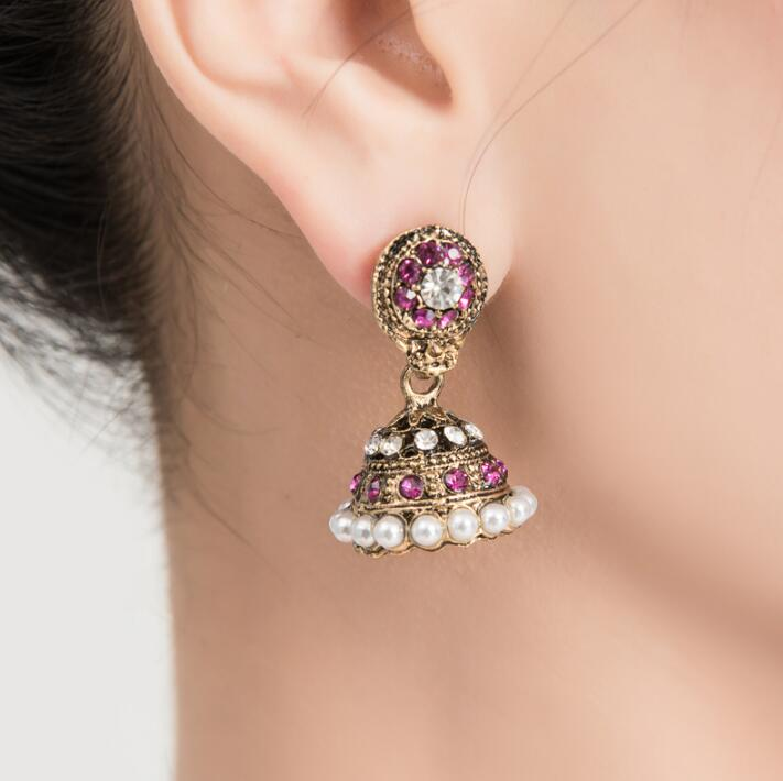 India Pakistan Style Earrings Girl Dance Accessory Woman Bellydance Performance Earrings