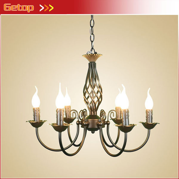Best Price Modern Minimalist Candle Chandelier Creative Pastoral Lighting Fixtures Living Room Lights Dining Bedroom