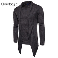 Cloudstyle Cardigan Men Fashion Spring Autumn Mens Sweaters 2018 Middle Long Length Cardigan Slim Fit Casual