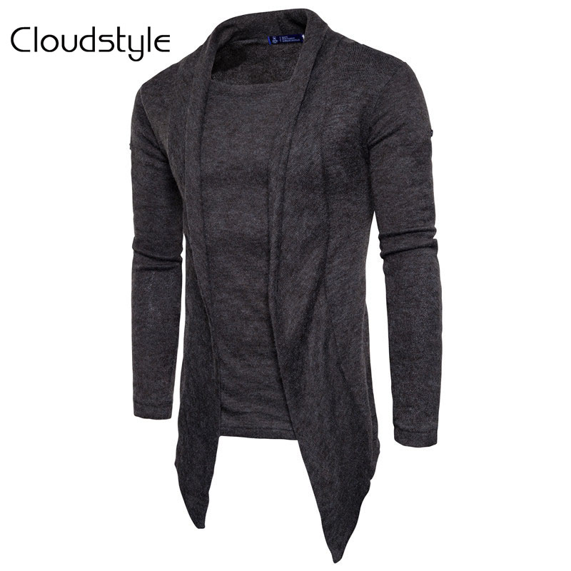 Cloudstyle Cardigan Men Fashion Spring Autumn Mens Sweaters 2018 Middle-Long Length Cardigan Slim Fit Casual Male Sweatercoat ...