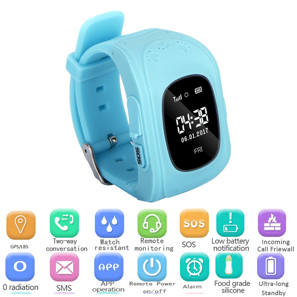 Q50 GPS Kid Safe Smart Watch SOS Call Monitor Wristwatch SIM Anti-Lost Location Finder Reloj Inteligente Watch for iOS Android