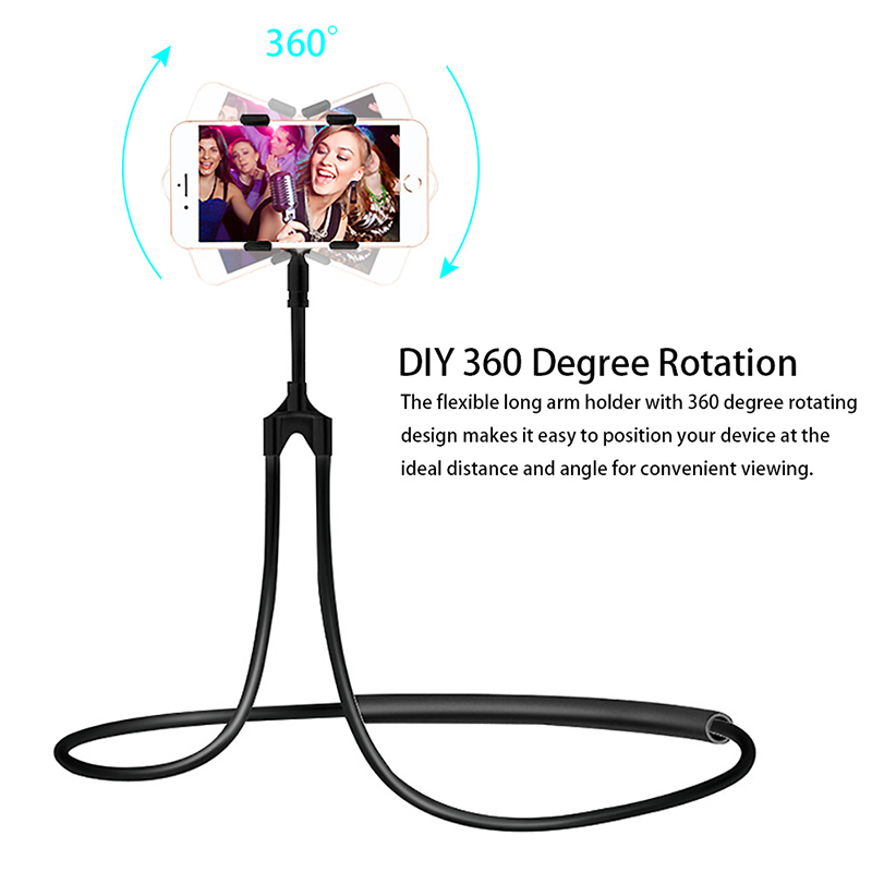 Flexible Mobile Phone Holder Hanging Neck Lazy Necklace Bracket Bed 360 Degree Smartphone Holder Stand