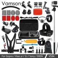Vamson For Go Pro Accessories Kit Monopod Head Strap For Gopro Hero 6 5 4 For