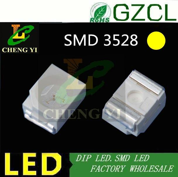(taiwan Chipsatz) Gute Qualität 1210 Smd Led Gelb 3528 Led 2,0-2,5 V 585-595nm Smt Diode Letzter Stil