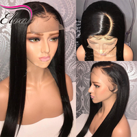Elva Hair 250 Density Silky Straight 360 Lace Frontal Wig With Baby Hair Brazilian Human Hair
