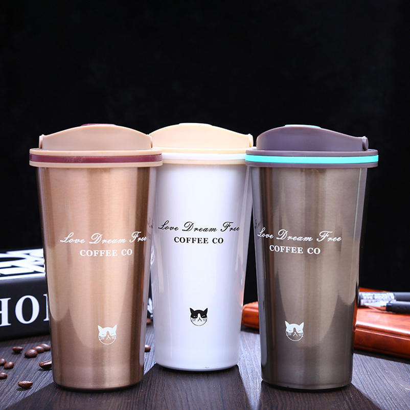 High Quality 500ML Stainless Steel Thermos Cups Vacuum Flasks Thermo Bottle Thermol Bottle Thermocup Travel Coffee Mugs