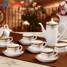 European Style Royal House Villa Jingdezhen 15 Head Bone China Porcelain Milk Coffee Sets Christmas Gifts